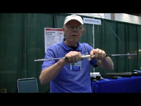 VHF - W3FF, Budd Drummond, shows us a prototype VHF 2 and 6 meter Yagi Antenna he has been working on. HAMCOM 2010.