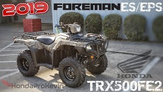 3. 2019 Honda Foreman 500 ES + EPS ATV Walk-around | TRX500FE2 FourTrax 4X4 Camo