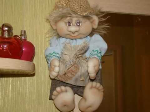 Кукла домовенок из капроновых колготок мастер класс