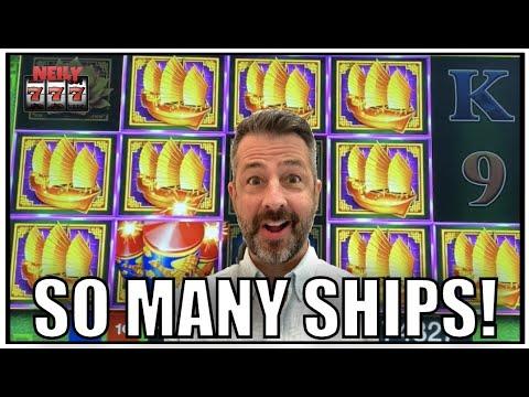 Oh wow! There were so many ships! Huge Win on Da Ji Da Li slot machine!