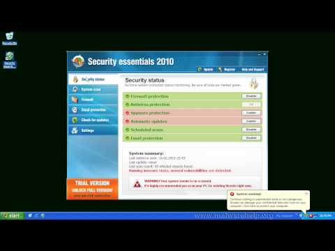 0 Security essentials 2010 Analysis and Removal