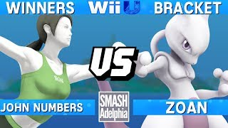 This Super Smash Bros. 4 Wii U tournament match features John Numbers as Wii Fit Trainer vs Zoan as Mewtwo. This Winners Bracket match at SMASHADELPHIA 2017 was livestreamed on 06/24/17.Enjoy the video? Hit the like button and drop a comment and let us know your favorite part. Share it with your friends and spread the hype!Check out our website:► http://clashtournaments.comWatch our live streams:► http://twitch.tv/clashtournaments► http://hitbox.tv/clashtournamentsFind us on social media:► http://facebook.com/clashtournaments► http://youtube.com/clashtournaments► http://twitter.com/clashtournament► http://instagram.com/clashtournamentsBe sure to Follow and Subscribe to us to keep up to date on all of our content. Click the bell next to the subscribe button to receive instant notifications on all uploads!