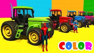 Learn Colors For Kids Tractors and Spiderman Cars SuperheroFun learn color mini cooper carshttps://youtu.be/LmUA9jdQTIALEARN COLORS OldTimer Cars for Babies w Superheroes 3D Spidermanhttps://youtu.be/c6aZVVQwjSoFun Learn Colors Helicopter & Sport Carshttps://youtu.be/MbzZGzIJg1ALearn Colors McQueen Cars for Kids - Superheroes for Babieshttps://youtu.be/zEu9sLbsr-4