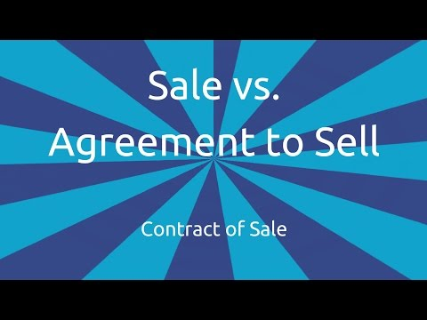 Sale vs. Agreement to Sell | Formation of the Contract of Sale | CA CPT | CS & CMA Foundation