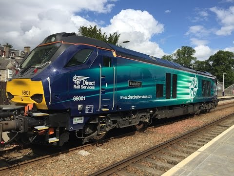 DRS 68001 'Evolution' working the Mossend to Inverness fr...
