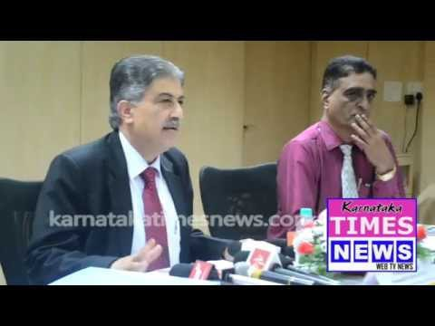 Vijaya Bank MD Kishore Sansi  Media Meet in Mangaluru
