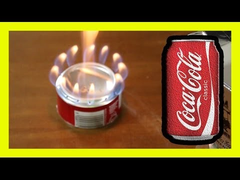 Coke Can The Perfect Alcohol Stove cocacola ♻ (видео)