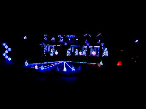 Auburn Fan Celebrates with Christmas Lights