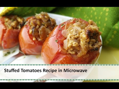 Stuffed Tomatoes Recipe | Stuffed Tomato in Microwave Recipe by Healthy Kadai