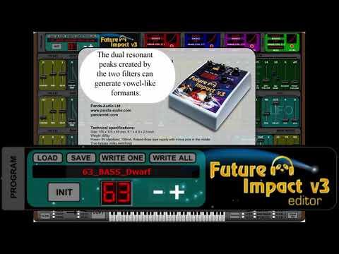 Future Impact v3 szintetizátor pedál