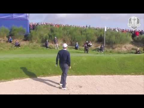 Jimmy Walker with the first eagle of The 2014 Ryder Cup