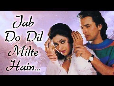 Most Romantic 90's Song | Jab Do Dil Milte | Aao Pyaar Karen Song | Saif Ali Khan | Shilpa Shetty