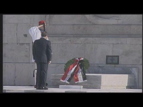 Ο Πρόεδρος της Αιγύπτου, κατέθεσε στεφάνι στο μνημείο του Αγνώστου Στρατιώτη