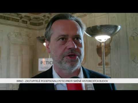 TV Brno 1: 31.1.2017 Zastupitelé podepisovali petici proti směně historických budov.