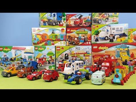 Lego Duplo Bus Crash Fire Truck Cars Colors & Numbers Toys Unboxing Fire Station Toy Trucks