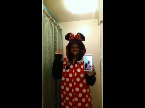 Me in the Minnie Mouse Kigurumi