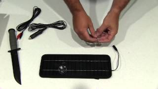 Keedox 12V 4.5W Portable Solar Panel Battery Charger Unboxing
