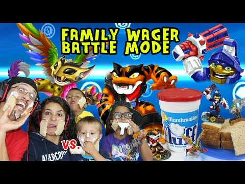 family - FINALLY, It's here! The Family Food Wager (kind of) Battle Mode! We switch it up this time but it's still super fun! We have a bunch of slices of old bread (yuck!) some FLUFF and a Rice...