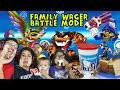 FLUFF FACE SANDWICH! Skylanders Family Food Wager 4 Player Battle Mode (Repaint Renaming Contest)