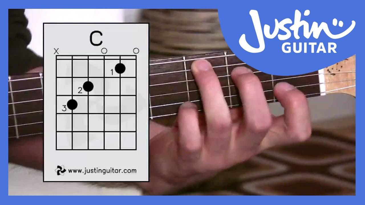 C Chord – Guitar For Beginners – Stage 3 Guitar Lesson – JustinGuitar [BC-132]