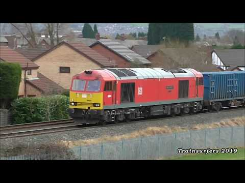 *RARE* DB Cargo Class 60 No. 60091 On 6E26 Knowsley Freight Tml - Wilton Efw Tml On 19.02.19 - HD