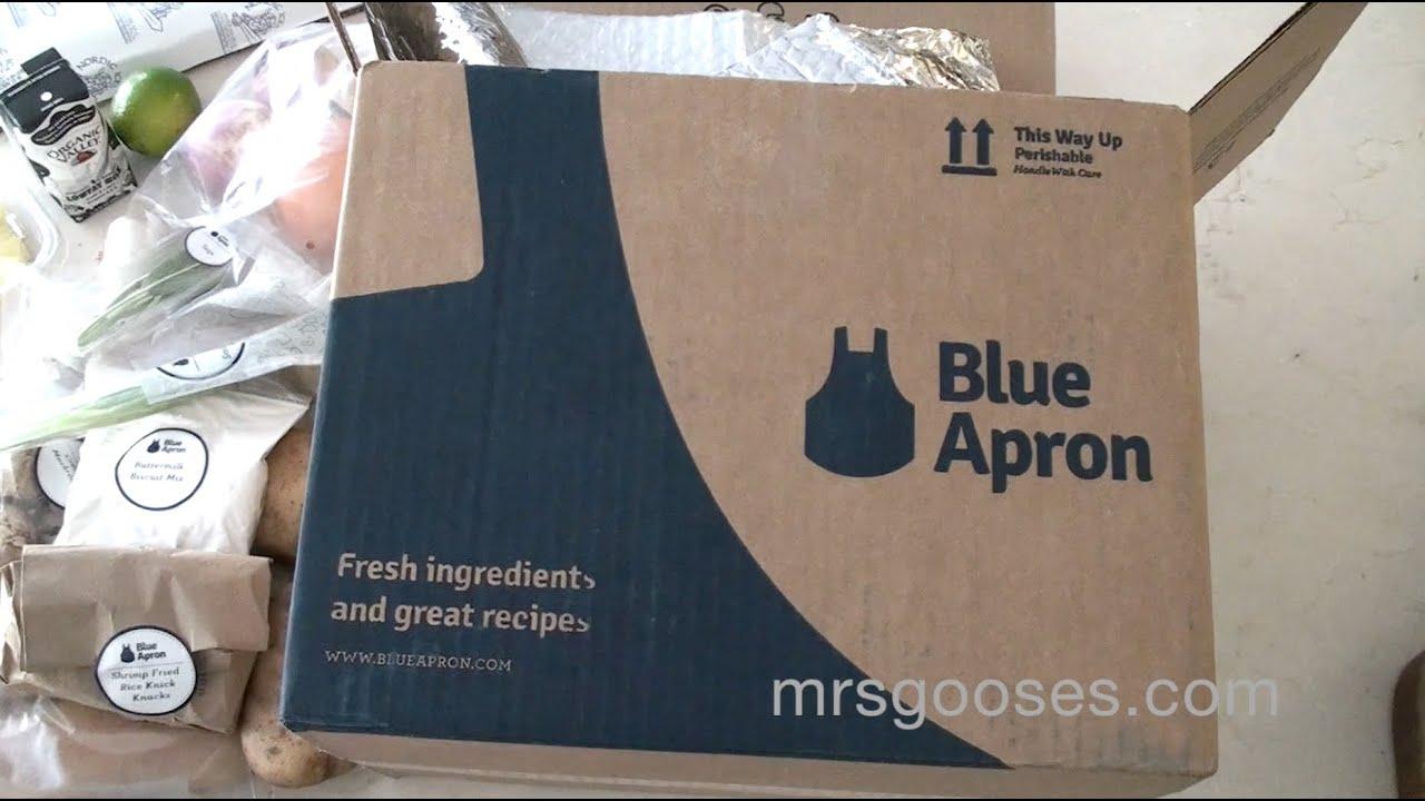 Blue apron top chef contest - Unboxing A Blue Apron Food Box