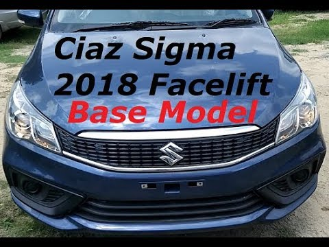 Maruti Ciaz Sigma Facelift Looks, Features, Price Review. Ciaz Base Sigma Model