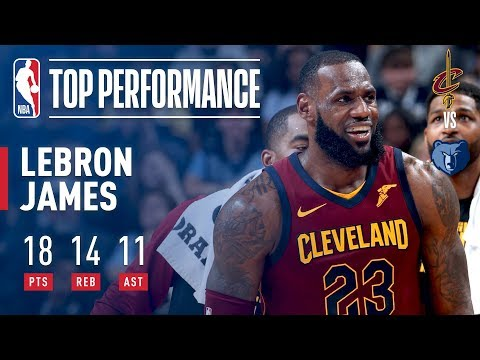 LeBron James Picks Up a Triple-Double (18/14/11) in Win Over the Grizz | February 23, 2018