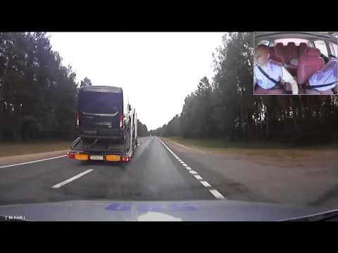 drunk driver - A portion of footage from a wild police chase of a drunk driver in a vehicle transporter truck has been released by police. The chase went for an estimated 1...