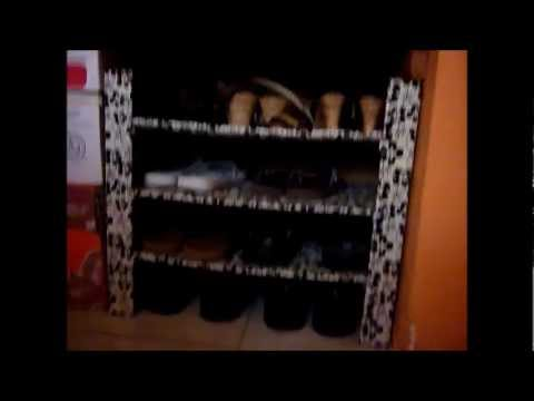 Estante de cartón para guardar zapatos