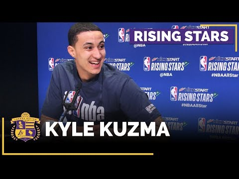Video: NBA All-Stars 2018: Kyle Kuzma Speaks To The Media Before First Rising Stars Game (Full Interview)