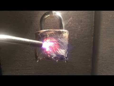 Melting A Lock Off With A Torch