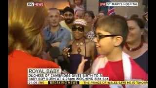 Royal Baby Man In Crowd Says Its A Black Boy