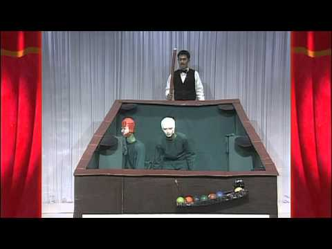 Japanese TV Show Contestants Dress as Billiard Balls and Act Out a Perfect Pool Break