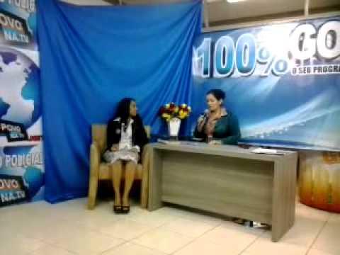 Missionaria Luciene Viana (Igreja do Avivamento) em Vilhena. Entrevista na BAND.
