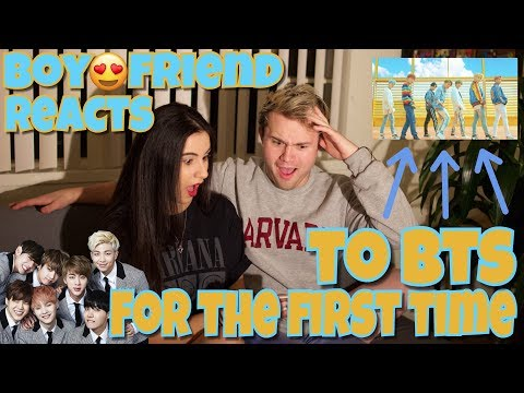 MY BOYFRIEND REACTING TO BTS FOR THE FIRST TIME Ft MrJimmyGtv | Just Sharon