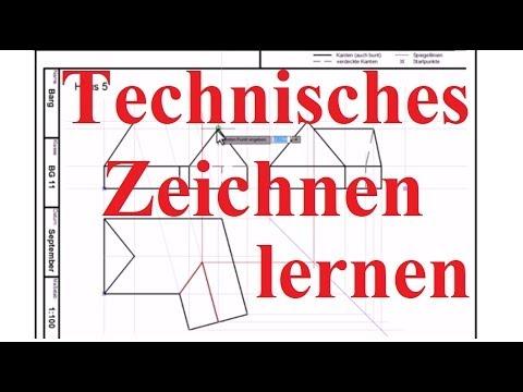 Technisches Zeichnen Lernen ☐ Beispiel: Haus mit Nebengebäude