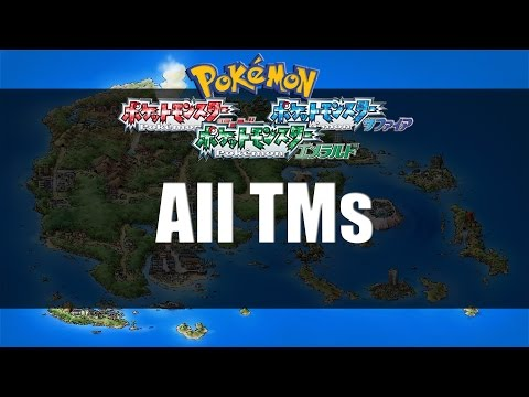 Pokemon Ruby Sapphire & Emerald | Where to get All TMs