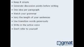 5 - GMAT Prep - General Tips For The AWA Section