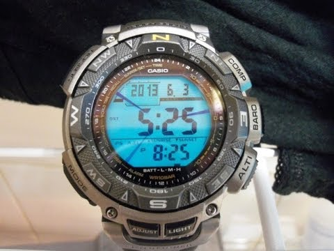 Casio PAG240T-7 Protrek Pathfinder Titanium Full Review!