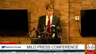 LIVE Stream: Milo Yiannopoulos Press Conference 2/21/17