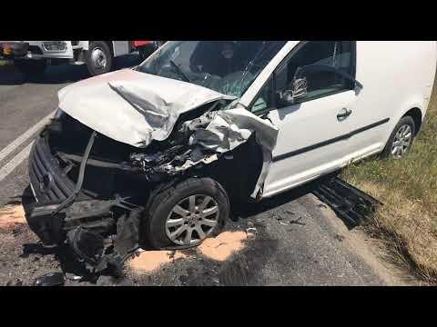 Wideo: Wypadek na drodze Rudna - Gwizdanów