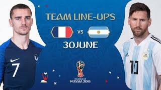 Video LINEUPS – FRANCE v ARGENTINA - MATCH 50 @ 2018 FIFA World Cup™ MP3, 3GP, MP4, WEBM, AVI, FLV Maret 2019