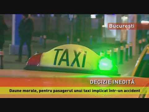 Daune morale, pentru pasagerul unui taxi implicat într-un accident