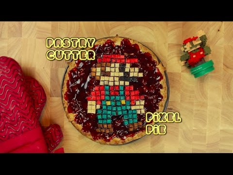 How to Make a Pixelated Super Mario Bros Pie Using a Large Pastry