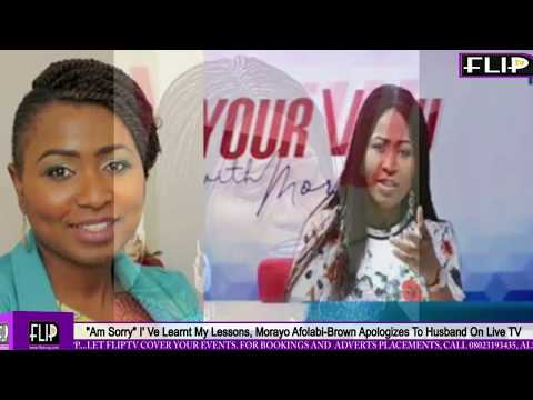 """""""I'M SORRY"""" I'VE LEARNT MY LESSONS, MORAYO AFOLABI-BROWN APOLOGIZES TO HUSBAND ON LIVE TV"""