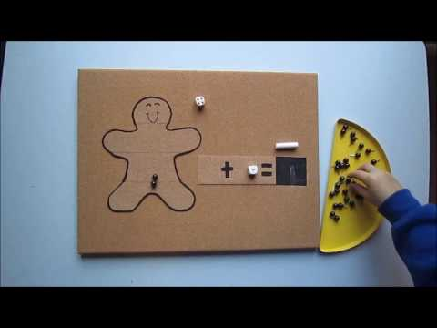 Gingerbread Man Addition Game
