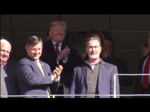 President Trump at Bryant-Denny Stadium for Alabama vs LSU
