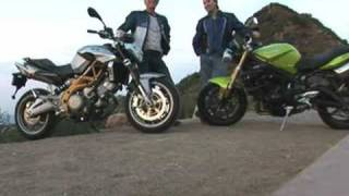 10. 2008 Naked Middleweight Comparison: Triumph Street Triple 675 vs. Aprilia SL750 Shiver