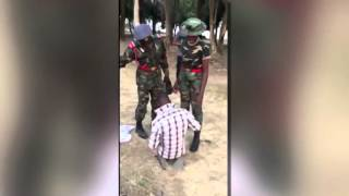 Nigerian Army Cadet punishes man for complimenting a female Officer
